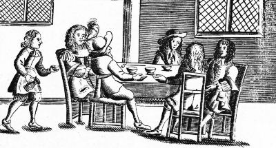 A Coffee House in the Time of Charles II