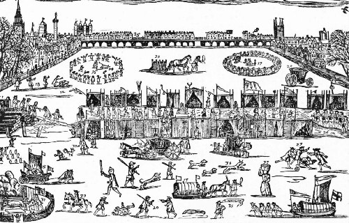 The Great Fair on the Frozen Thames—1683