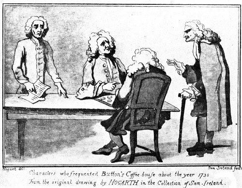 A Trio of Notables at Button's in 1730